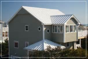 Metal roof metal roof white house