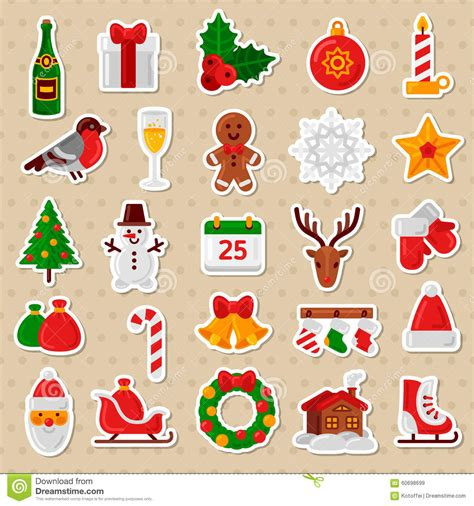 happy new year icon merry flat icons happy new year stickers stock