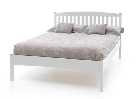 white wood headboard double serene eleanor 4ft6 double white wooden bed frame with low