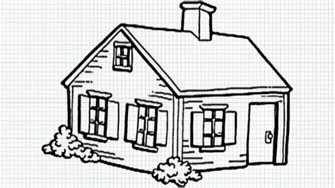 draw your house easy drawing of a house how to draw a house step step buildings landmarks places drawing
