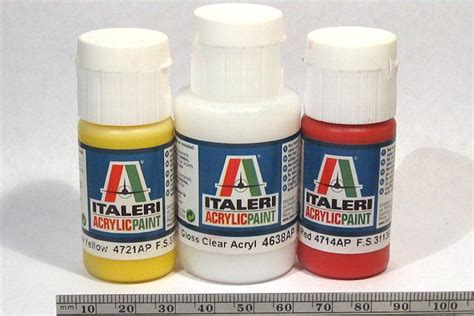 acrylic paint reviews review italeri acrylic paint yellow and gloss