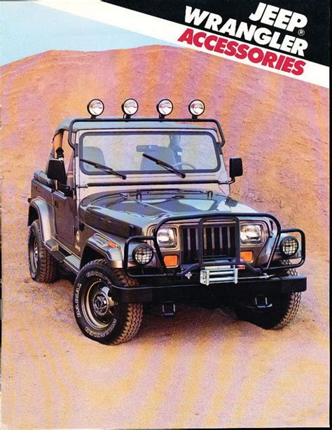 Jeep Wrangler Catalog 1988 Jeep Wrangler Accessories Sales Brochure Catalog