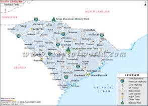 Sc State Parks Map by South Carolina National Parks Map
