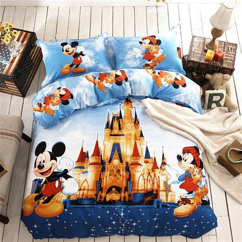 disney bedding disney discovery size mickey castle bedding