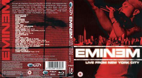 eminem dvd jaquette dvd de eminem live from new york city 2005 blu