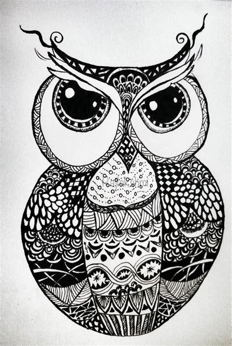 zentangle owl pattern zen tangled destiny s child