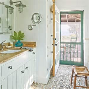 cottage style bathroom pebbled bathroom floor 100 comfy cottage rooms coastal