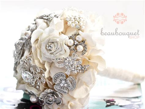 Wedding Bouquet Made Of Brooches by Bridal Bouquet Made Of Rhinestone Brooches Deposit Large