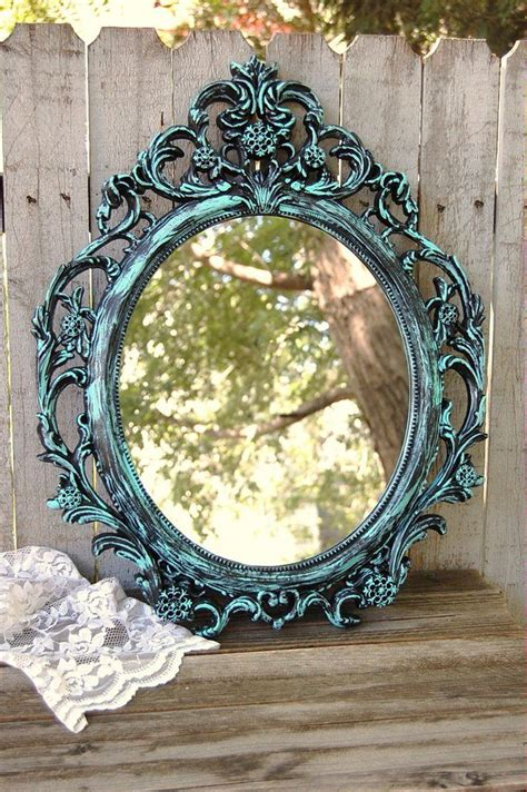 aqua black mirror shabby chic mirror mirror painting