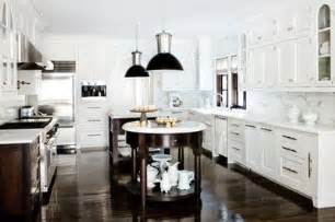 white and espresso kitchen cabinets double kitchen islands contemporary kitchen