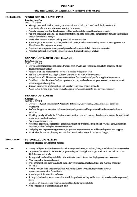 Abap Developer Sle Resume by 100 Abap Resume Sle Abap Resume Sle Awesome Best Sap Basis Resumes Templates Ideas