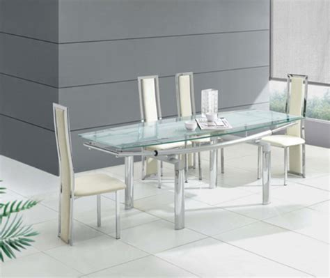 glass dining table modern best picture of modern and luxury extending transparent