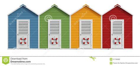 cabina da spiaggia cabine variopinte della spiaggia illustrazione di stock