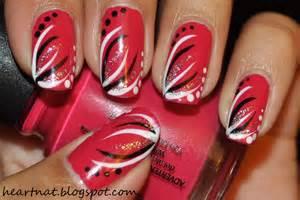 heartnat simple freehand nail art