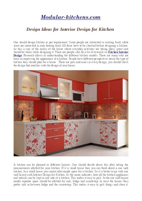 Interior Design And Decoration Pdf by Design Ideas For Interior Design For Kitchen Pdf Pdfsr