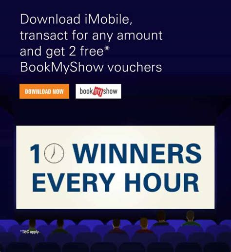 icici bank bookmyshow offer icici bank get discount voucher on bookmyshow