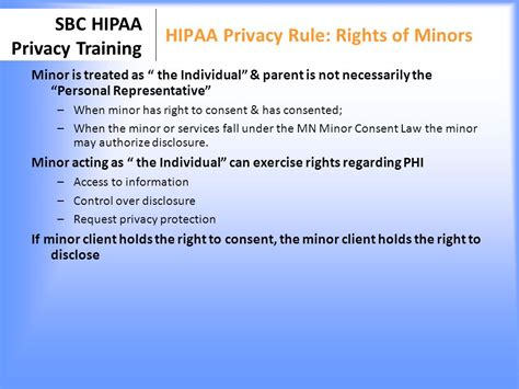 Hipaa Privacy Rights Minneapolis School Based Clinics Ppt