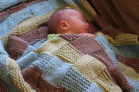 Pattern For Baby Blanket Knitting by Stripe The Squares Baby Vintagemamasew