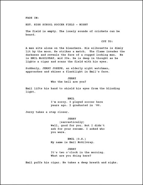 script templates for pages screenwriting page numbering a screenplay creative