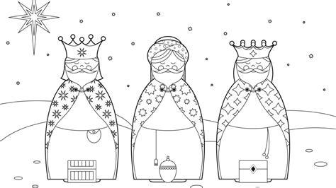imagenes reyes magos para colorear e imprimir dibujos de reyes magos para colorear 1