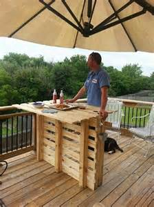 Patio Mini Bar by Recycled Wood Pallet Bar Ideas Pallet Ideas Recycled