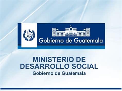 ley 14 ministerio de gobierno ministerio de desarrollo social gobierno de guatemala