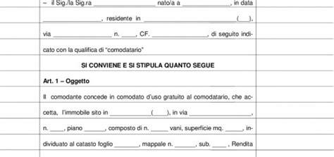 contratto di locazione di beni mobili modello 69 facsimile compilazione per comodato