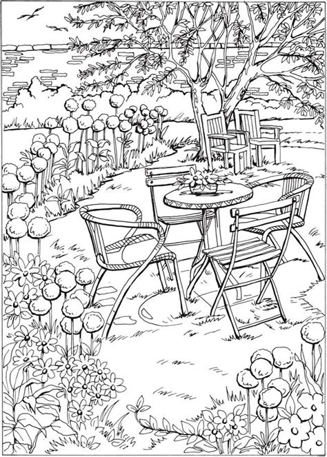 coloring pages of garden scene 591 best images about buildings home sweet home grav 252 r