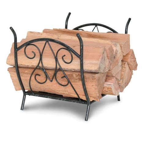 Fireplace Wood Holder by Wrought Iron Forged Crest Fireplace Wood Holder By Napa Forge