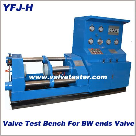 hydrostatic test bench yfj h horzontal valve hydrostatic testing machine view