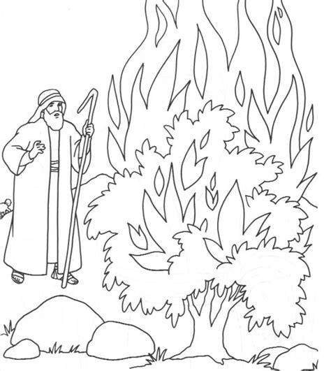 25 Best Burning Bush Craft Ideas On Pinterest Coloring Page Bush