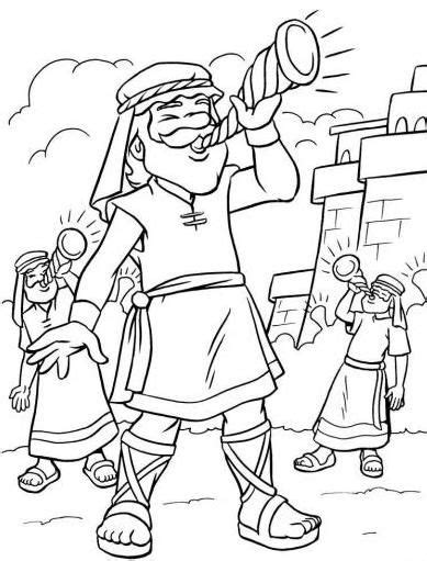 coloring pages for joshua and the battle of jericho jericho coloring playtime build walls with blocks march