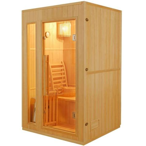 sauna in sauna traditionnel finlandais 2 places achat vente kit