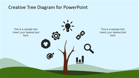 tree diagram template powerpoint tree creative tree diagram powerpoint template slidemodel