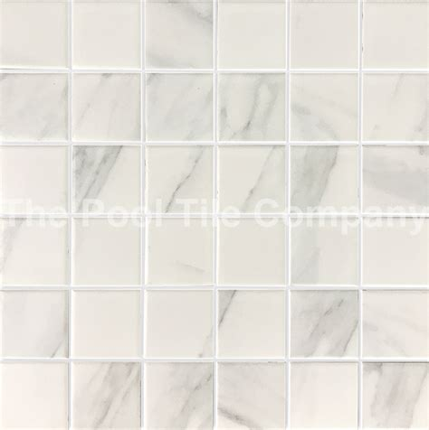 cmc415 carrara 48mm ceramic mosaic pool tiles