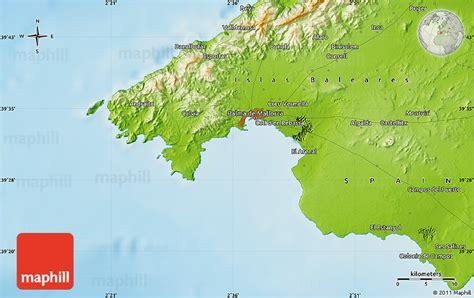 mallorca world map physical map of palma de mallorca