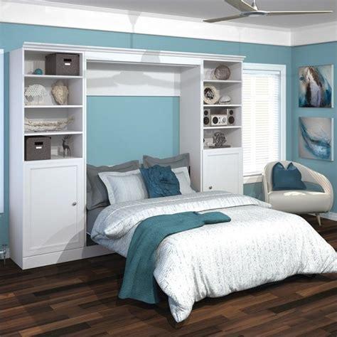 wall unit beds bestar versatile 109 full wall bed with 2 piece 2 door