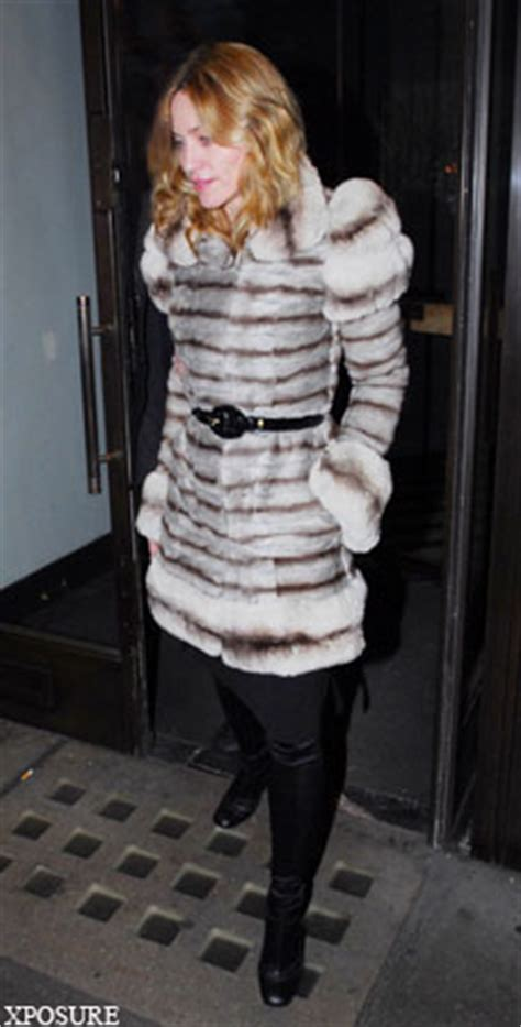 madonna in a fur coat unrepentant madonna joins real fur with 163 35 000