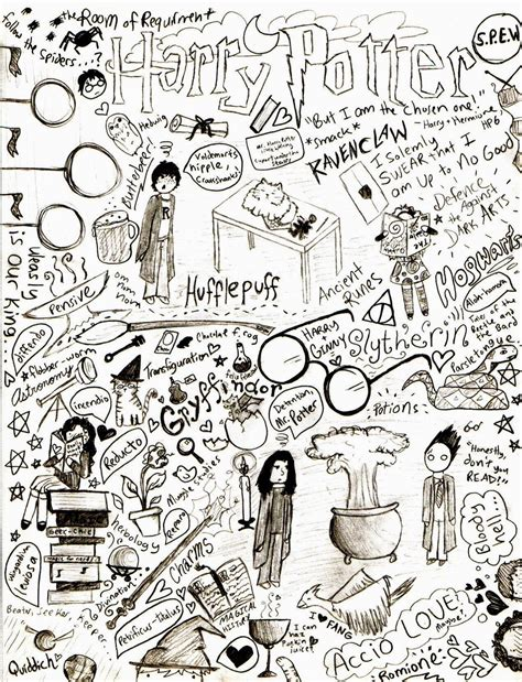 doodle harry potter harry potter doodle page by ourstarryearth on deviantart
