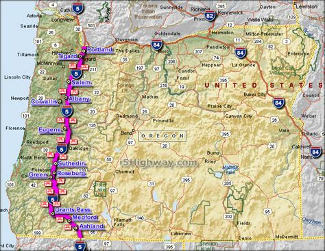map of interstate 5 through oregon i 5 interstate 5 oregon