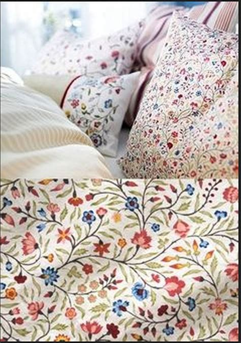 ikea red and white bedding ikea alvine ljuv duvet cover pillowcase set floral stripes multicolor