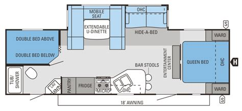 rv floor plan cer floor plans houses flooring picture ideas blogule