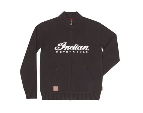 Indian Sweater s logo knit zip thru indian motorcycle en ca