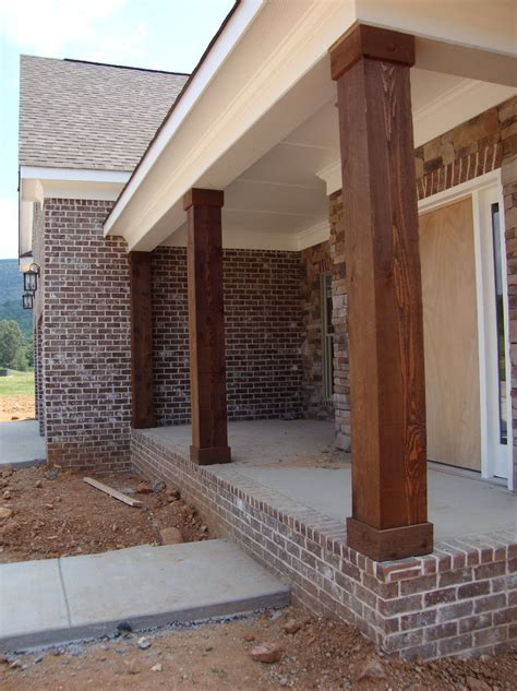 home columns wooden porch posts and columns the rickety brick house