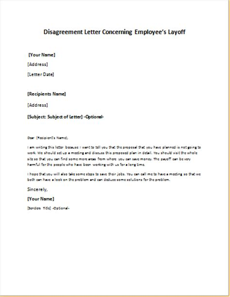layoff letter template layoff notice images