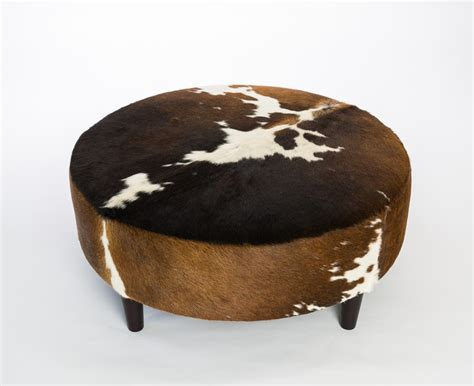 cowhide ottomans round cowhide ottoman sydney nsw round cow skin furniture