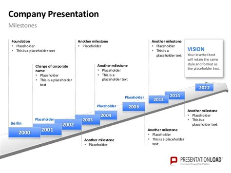 milestone chart templates powerpoint company presentation ppt slide template