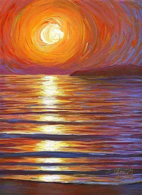 By Tami Oyler Sunset Acrylic Painting