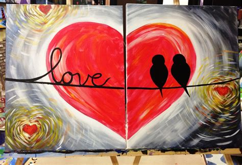 paint nite couples valentines day couples canvas special event in fort
