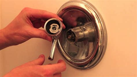 how to change bathtub knob replace upgrade your shower and bath handle youtube